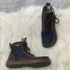 Lems Boulder Hiking Boots Navy Size 39/8